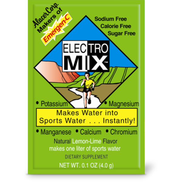 Electro Mix Electrolyte Replacement Drink Mix Natural Lemon-Lime Flavor