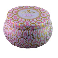 Voluspa 2 Wick Tin Candle Pink Citron