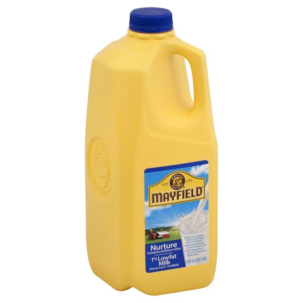 Mayfield Nurture 1% Lowfat Milk, Jug