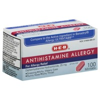 H-E-B Allergy Relief Diphenhydramine 25mg Tablets