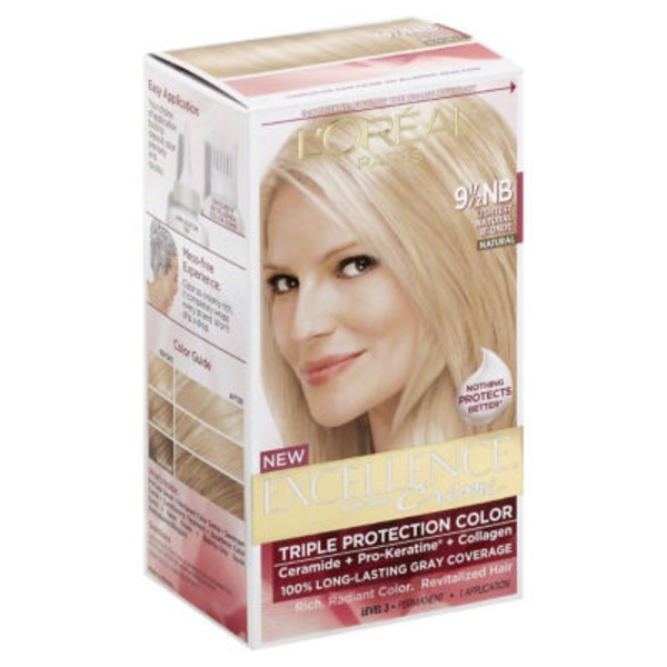 Excellence Creme Triple Protection Color 9-1/2NB Lightest Natural Blonde Hair Color