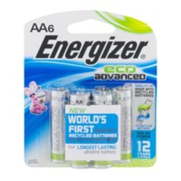 Energizer Eco Advanced Alkaline Batteries, AA