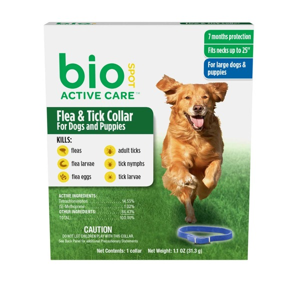 Bio Active Care Flea & Tick Collar for Dogs & Puppies