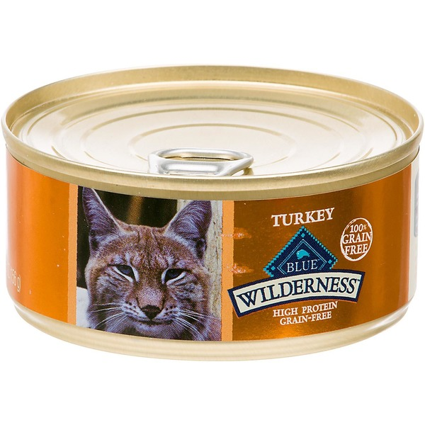 Blue Buffalo Cat Food, Moist, Turkey, Wilderness, Can