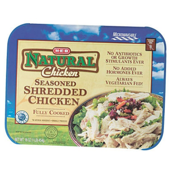 H-E-B Natural Seasoned Shredded Chicken