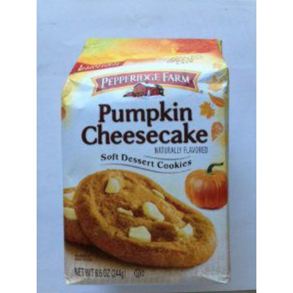 Pepperidge Farm Cookies Dessert Shop Pumpkin Cheesecake Soft Dessert Cookies