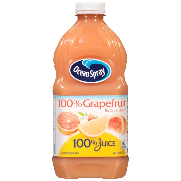 Ocean Spray 100% Grapefruit No Sugar Added 100% Juice