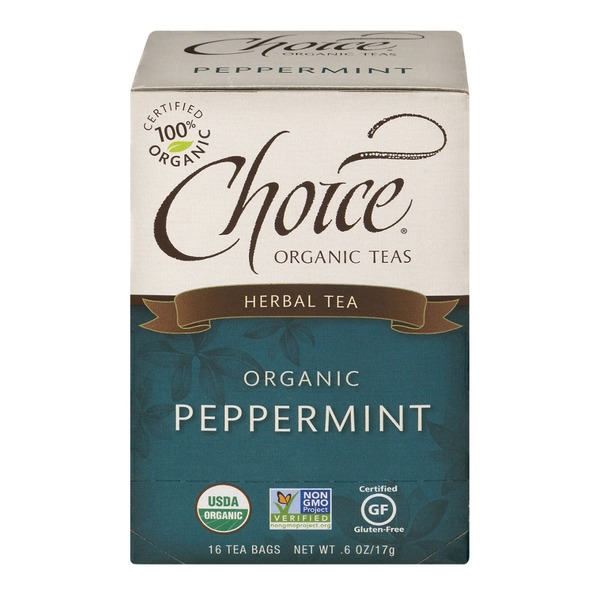 Choice Organic Teas Peppermint, Caffeine Free