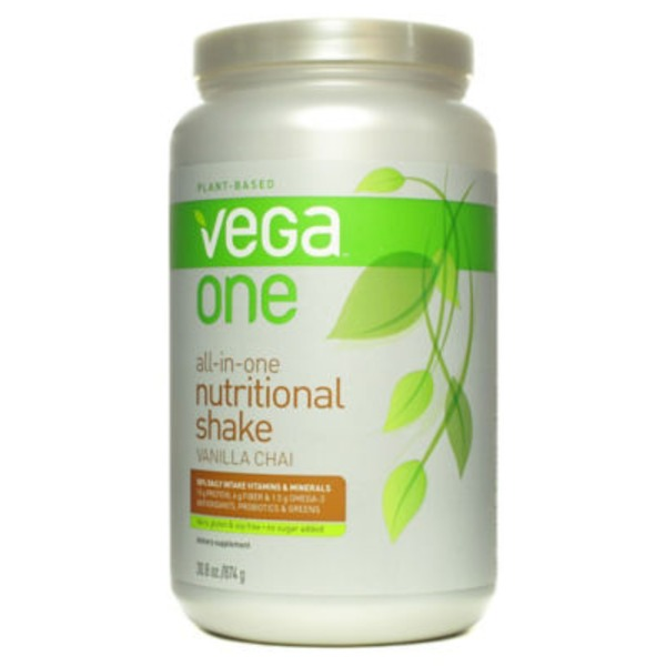 Vega One All-In-One Nutritional Shake Vanilla Chai Flavor Drink Mix