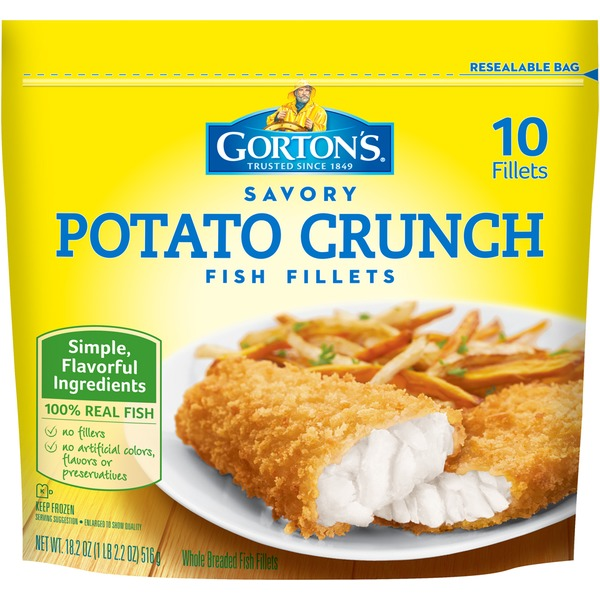 Gorton's Savory Potato Crunch Fish Fillets