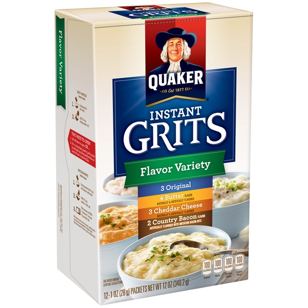 Quaker Flavor Variety Original/Butter/Cheddar Cheese/Country Bacon Instant Grits