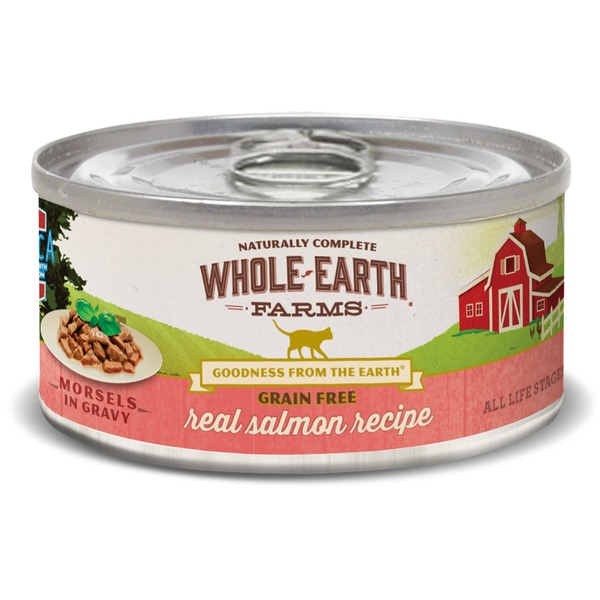 Whole Earth Farms Grain-Free Canned Cat Food, Shredded Salmon