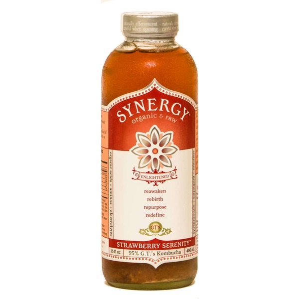 GT's Organic & Raw Kombucha Drink Strawberry Serenity