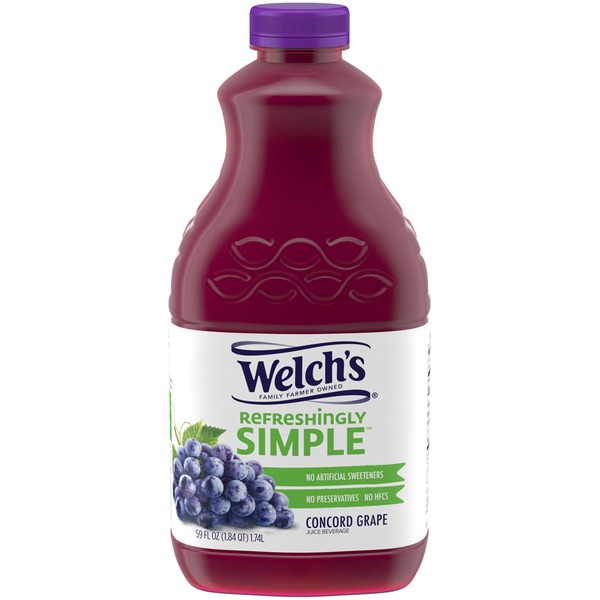 Welch's Refreshingly Simple Concord Grape Juice Beverage