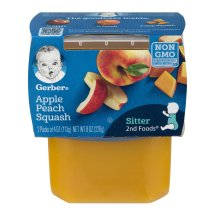 Gerber 2nd Foods Apple Peach Squash, 4 Ounce Tubs, 2 Count