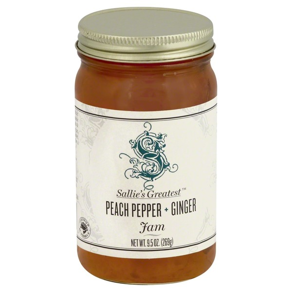 Sallie`s Greatest Jam, Peach Pepper & Ginger, Jar