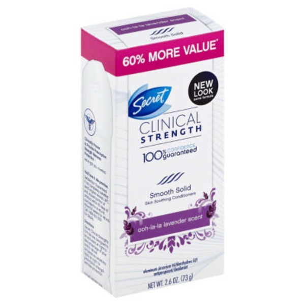 Secret Clinical Strength Smooth Solid Women's Antiperspirant & Deodorant Ooh-La-La Lavender Scent