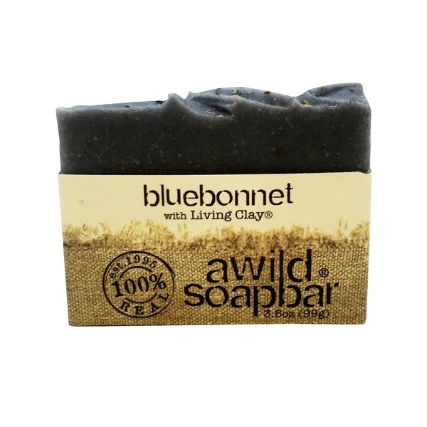 A Wild Soap Bar Bluebonnet With Calcium Bentonite Clay Bar Soap