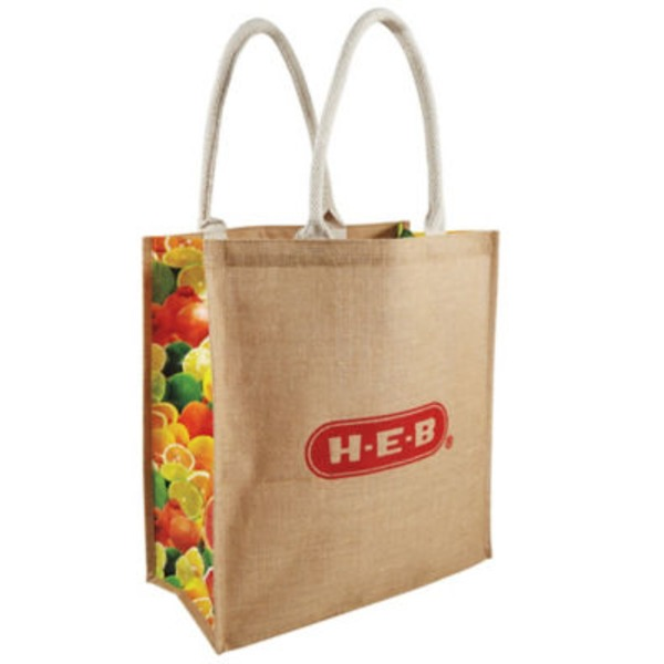 H-E-B Citrus Jute Reusable Bag