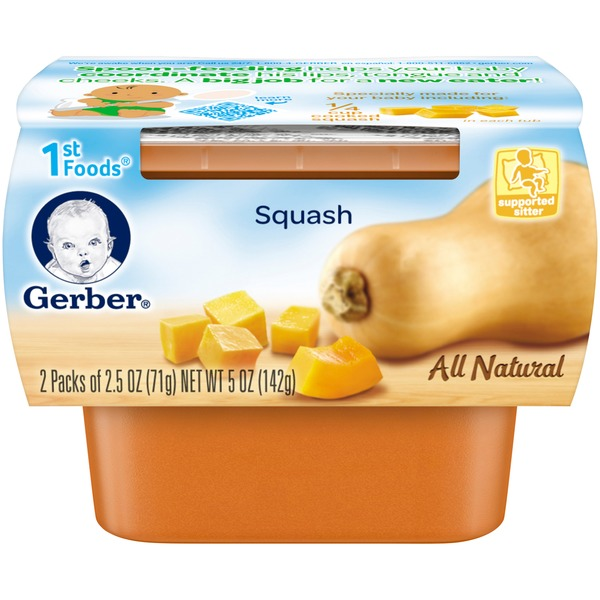 Gerber 1st Foods Vegetable Purees, Squash