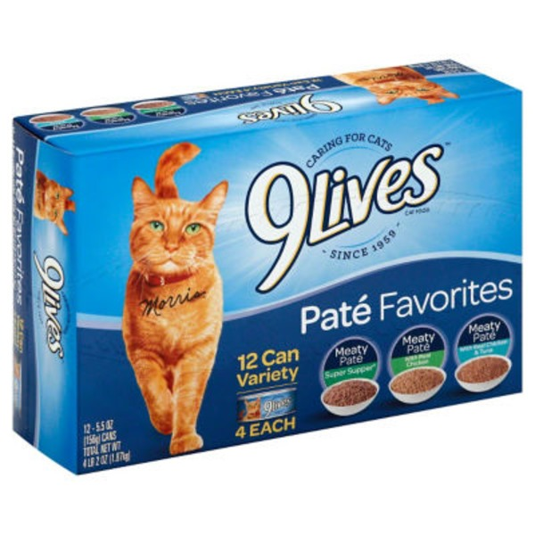 9 Lives Wet Pate Favorites Variety Pack Cat Food