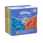 Kleenex Facial Tissues, On-The-Go Pack, 10 Tissues/Pack, 6 Ct