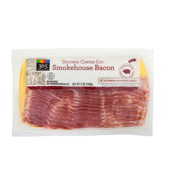 365 Uncured Center Cut Smokehouse Bacon