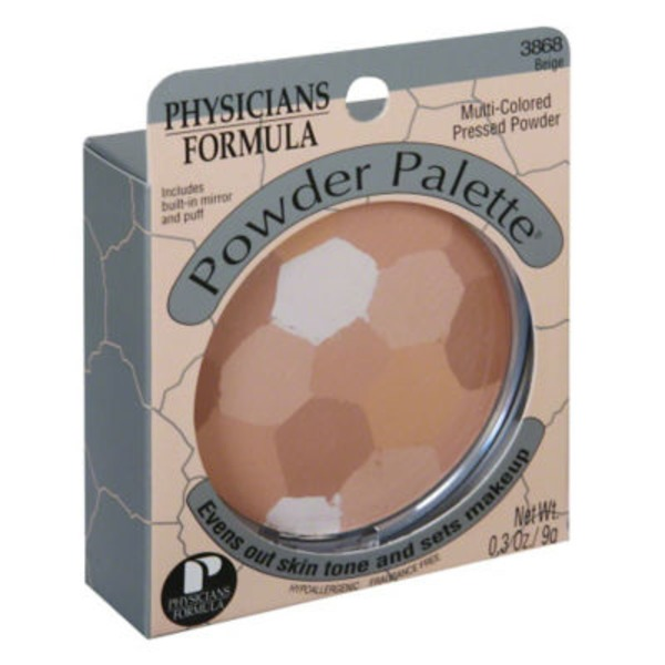 Powder Palette® 3868 Beige Multi-Colored -- 3868C Beige Multicolore Pressed Powder -- Poudre Compacte