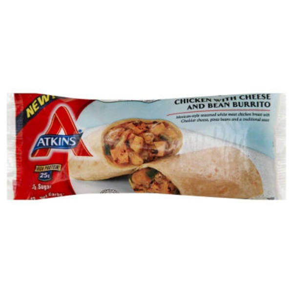 Atkins Chicken with Cheese and Bean Burrito