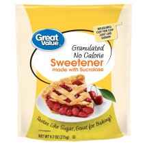 Great Value Granulated Sweetener with Sucralose, No Calorie, 9.7 oz