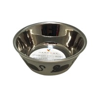 Harmony Grey Stainless Steel 1 Cup Cat Bowl
