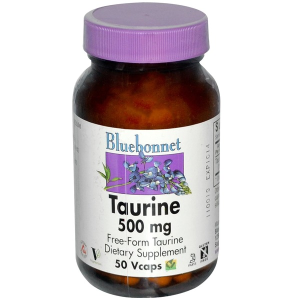 Bluebonnet Taurine 500 Mg Free-Form Taurine 50 Vcaps