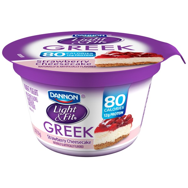 Light & Fit Greek Greek Strawberry Cheesecake Nonfat Yogurt