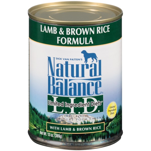 Natural Balance Limited Ingredient Diets Lamb & Brown Rice Formula Dog Food