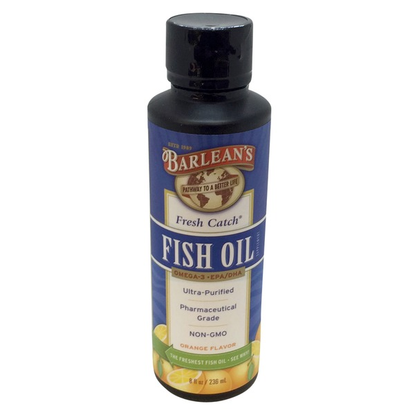 Barlean's Fresh Catch Orange Flavor Fish Oil