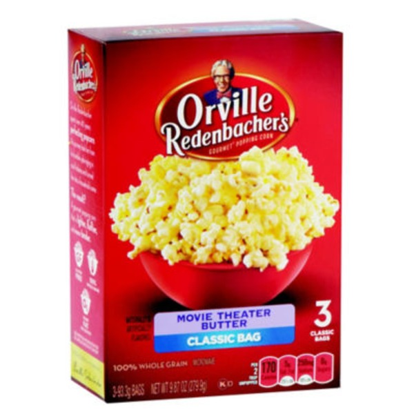 Orville Redenbacher's Gourmet Popping Corn Movie Theater Butter Classic Bag - 3 CT