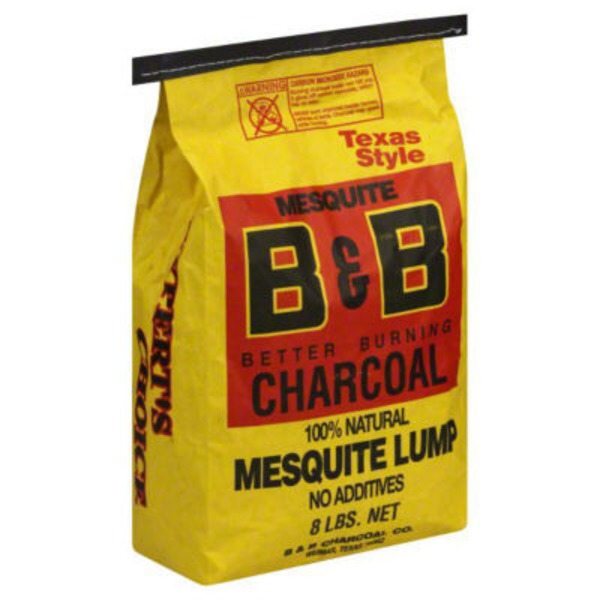 B&B Texas Style Mesquite Lump Charcoal