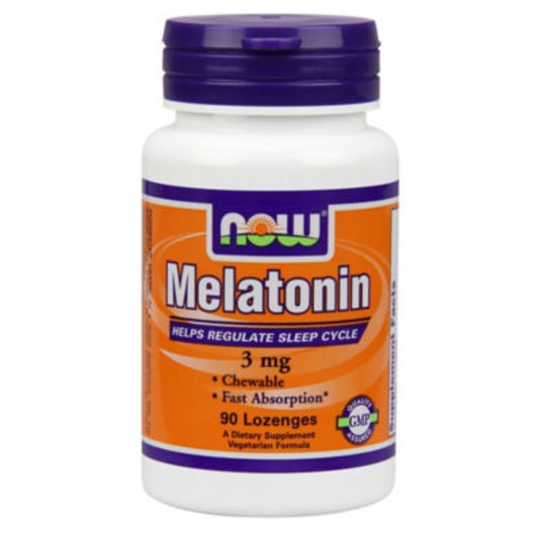 Now Melatonin Chewable Lozenges 3 Mg