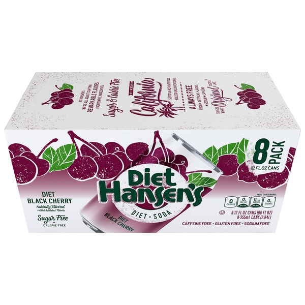Hansen's Natural Diet Black Cherry Premium Soda