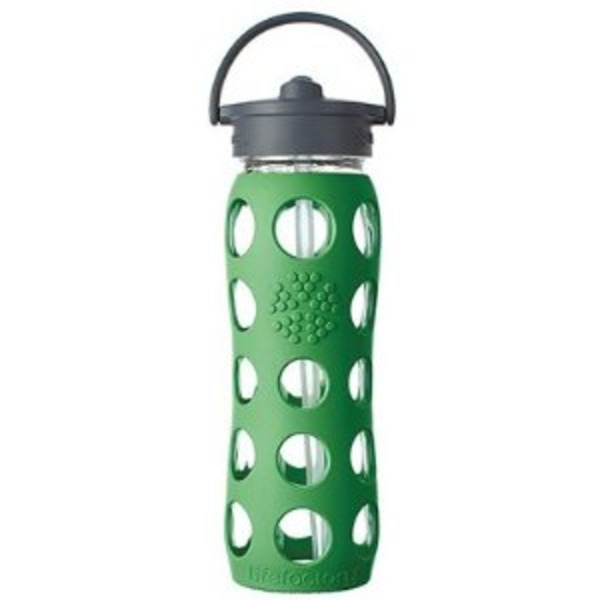 Lifefactory 12 Oz Glass Flip Top Bottle Green