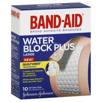 Band Aid® Brand Adhesive Bandages Water Block Plus Large 10 ct All One Size  Premium