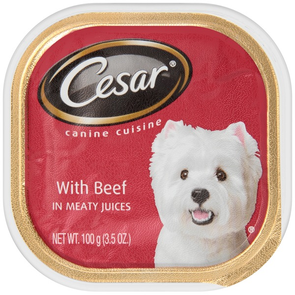 Cesar With Beef in Meaty Juices Wet Dog Food