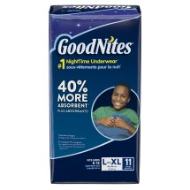 GoodNites Bedtime Bedwetting Underwear for Boys, Size L/XL, 11 Count