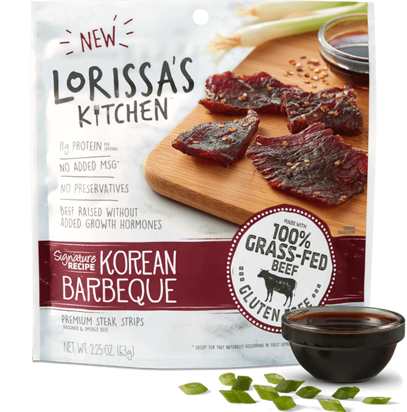 Lorissa's Kitchen Korean Barbeque Beef Jerky