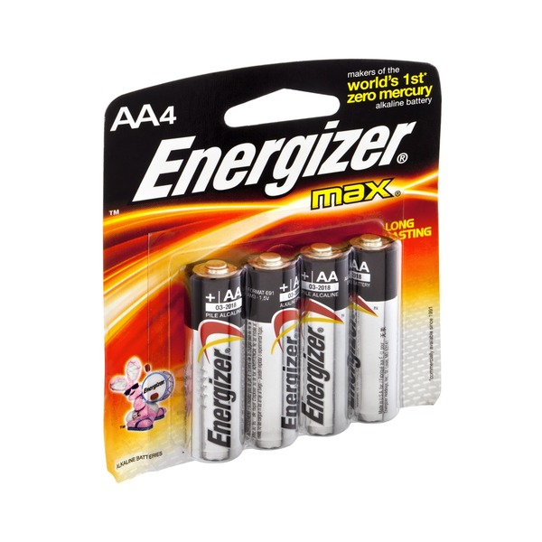 Energizer Max Long Lasting AA Alkaline Battery - 4 CT