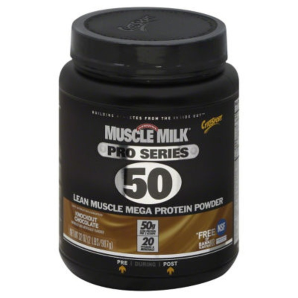 Muscle Milk Pro Series 50 Lean Muscle Mega Protein Powder Knockout Chocolate