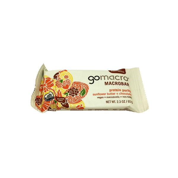GoMacro Organic Sunflower Butter Chocolate Macrobar