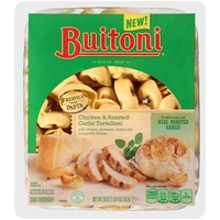 Buitoni Freshly Made. Filled with Chicken, Parmesan, Ricotta & Mozzarella Cheeses Chicken and Roasted Garlic Tortelloni