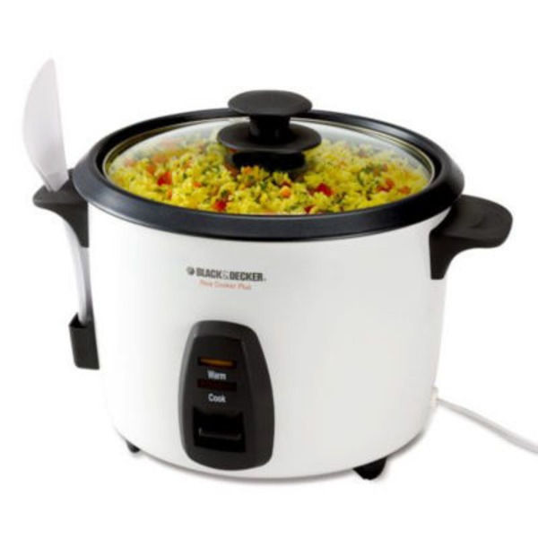 Black & Decker White 16 Cup Rice Cooker With Basket