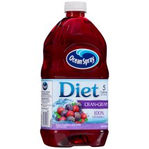 Ocean Spray Diet Fruit Juice, Cran-Grape, 64 Fl Oz, 1 Count